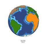 3d подпирают звезды космоса перевода качества планеты мати освещения eurasia земли высокие также вектор иллюстрации притяжки core Стоковые Изображения RF