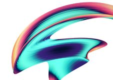 3D представляют абстрактную предпосылку Красочные переплетенные формы в движении Искусство произведенное компьютером цифровое Стоковая Фотография RF