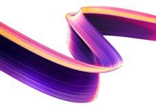 3D представляют абстрактную предпосылку Красочные переплетенные формы в движении Искусство произведенное компьютером цифровое Стоковая Фотография
