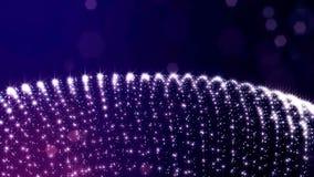 3d представляют анимацию научной фантастики петли с структурами колец завальцовки формы частиц зарева Безшовный отснятый видеомат бесплатная иллюстрация