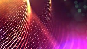 3d представляют анимацию петли линий формы частиц зарева осциллируя как отбрасывая гирлянда как предпосылка или конспект праздник видеоматериал