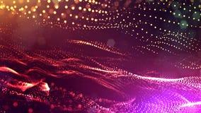 3d представляют анимацию петли линий формы частиц зарева осциллируя как отбрасывая гирлянда как предпосылка или конспект праздник акции видеоматериалы