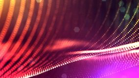 3d представляют анимацию петли линий формы частиц зарева осциллируя как отбрасывая гирлянда как предпосылка или конспект праздник сток-видео