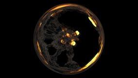3D представляют взрывов сферически состава состоя из объемистых красочных Стоковое Изображение RF