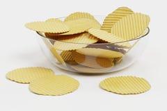 3D представляют картофельных стружек Стоковые Изображения RF