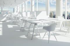 3d представляют красивого современного интерьера офиса Стоковое Изображение