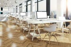 3d представляют красивого современного интерьера офиса Стоковое Фото