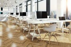3d представляют красивого современного интерьера офиса Стоковые Фотографии RF