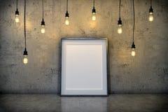 3d представляют - насмешливый вверх по плакату в живущей комнате бесплатная иллюстрация