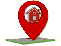 3D представляют поиск GPS Иллюстрация вектора
