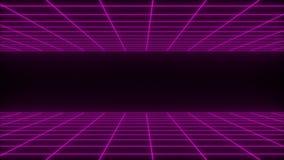 3D представляют предпосылку wireframe synthwave чистую абстрактную Будущая рет иллюстрация штока