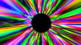 3d представляют психоделический multicolor тоннель предпосылка цифровая иллюстрация вектора