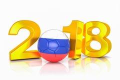3d представляют - Россия 2018 - футбол - футбол - шарик бесплатная иллюстрация