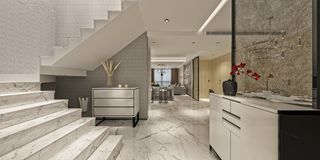 3d представляют современного дома Стоковое Изображение