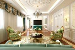 3d представляют современного интерьера дома стоковые фото