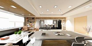 3d представляют современной комнаты деятельности Стоковые Фото
