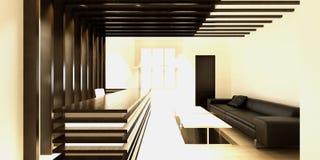 3d представляют современной комнаты деятельности Стоковое Изображение RF