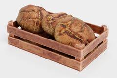 3d представляют хлебов в коробке иллюстрация вектора