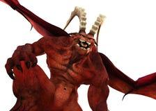 3D представляют terrifying красного демона иллюстрация вектора