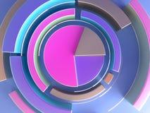 3d представляя абстрактную геометрическую предпосылку Форма диаграммы Современная minimalistic насмешка вверх, пустой шаблон бесплатная иллюстрация