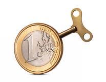 3d предмет изолированный евро одно Стоковые Изображения