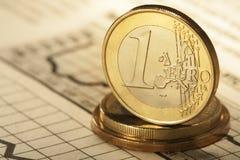 3d предмет изолированный евро одно Стоковые Фотографии RF