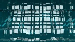 3D представило абстрактную лоснистую иллюстрацию предпосылки кубов Стоковое Изображение RF