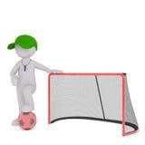 3D представило диаграмму нося свисток и зеленую крышку Стоковое Изображение