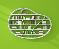 3d представило книжные полки бесплатная иллюстрация