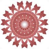 3d представило орнамент мандалы на белой предпосылке Стоковые Фотографии RF