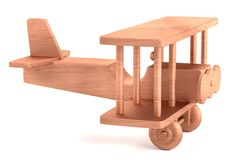 3d представляют деревянной игрушки Стоковая Фотография