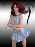 3d представляют женщины в шторме Стоковая Фотография RF