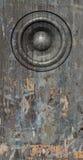 3d представляют звуковую систему диктора grunge серую старую Стоковые Фото
