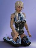 3D представляют молодой женщины Стоковые Изображения RF