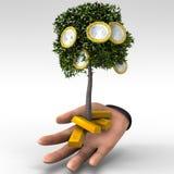 3D представляют руку с изображением дела концепции дерева денег Стоковое Изображение RF