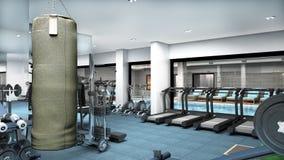 3D представляют салона спорта и здоровья Стоковое Изображение RF