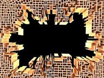 3d представляют стены сломано Стоковые Изображения RF