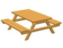 3d представляют стола для пикника Стоковое фото RF