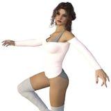 3D представляют танцев женщины Стоковые Фотографии RF
