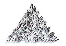 3D представляют толпу людей на белой предпосылке от взгляд сверху Стоковое Изображение RF