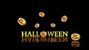 3D представляют тыквы хеллоуина Стоковое Изображение
