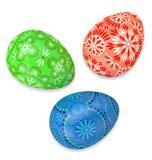 3D представляют 3 фольклорных пасхальных яя Стоковые Фото