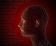 3d представляют человека кибер Стоковая Фотография