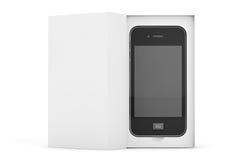 3d представляют Smartphone с коробкой Стоковое Изображение RF
