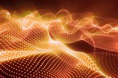 3d представляя абстрактную полигональную низкую поли предпосылку волны с соединяясь точками и линиями абстрактная подача соединен Стоковое Изображение RF