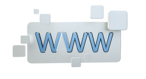 3D представляя бар значка сети www Стоковое Изображение RF