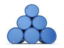 3D представляя синь barrels Viagra иллюстрация штока