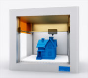 3d принтер, дом печатания Стоковое Фото