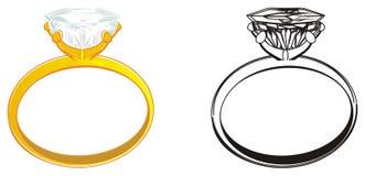 3d различные кольца 2 wedding иллюстрация вектора
