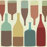 3d разливает модельное белое вино по бутылкам Стоковое Изображение